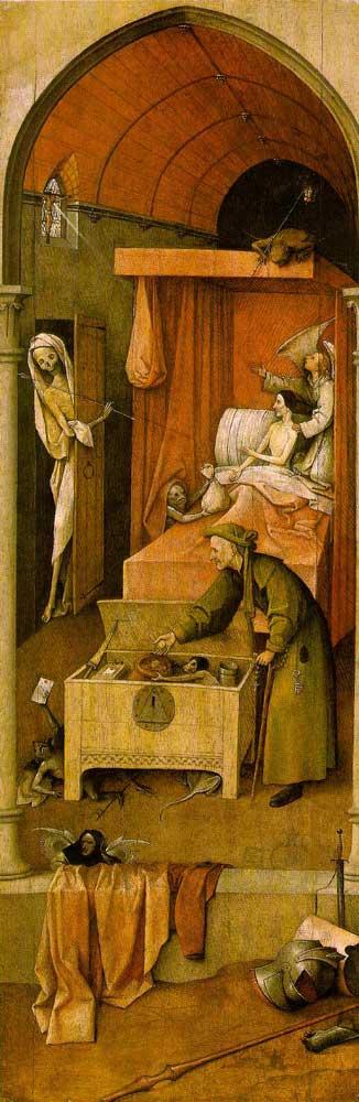 Năm 1490 sau công nguyên, tranh sơn dầu vẽ trên gỗ, 36 5/8 x 12 1/8 tại Nhà trưng bày Nghệ thuật Quốc gia; Washington, D.C.