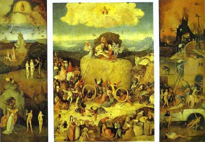 "The ""Haywain"" Triptych by Hieronymus Bosch"
