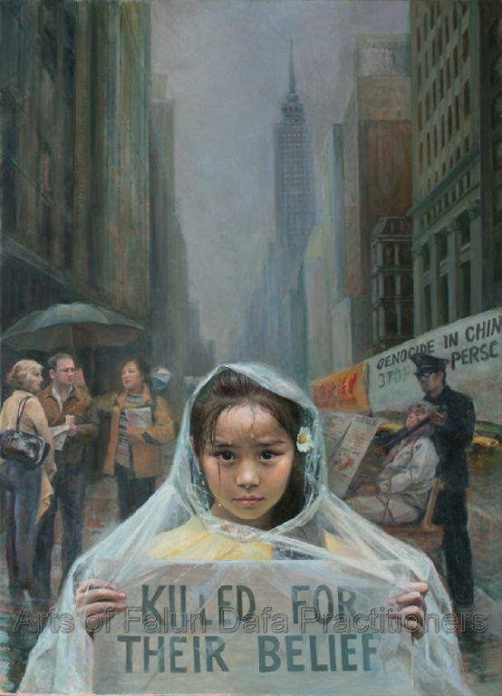 """""""Lời kêu gọi trong sáng"""", tranh của Chen Xiaoping, sơn dầu, 26""""x 36"""" (2005)"""