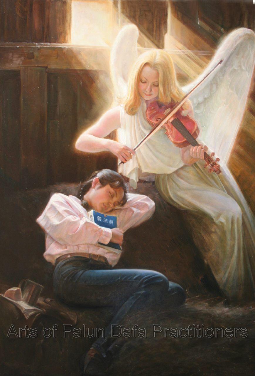 """Tranh sơn dầu """"Không nơi nương tựa"""" của họa sĩ Lý Viên, """"48 x 36"""", 2006."""