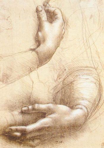 Nghiên cứu: Một trong những bản phác thảo mà Leonardo da Vinci sử dụng. Các phác thảo của ông lên đến hàng nghìn, rất nhiều đã được lưu giữ và đóng thành tuyển tập. (Artrenewal.org)