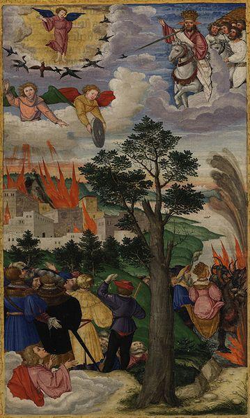 Tranh: Sự sụp đổ của thành Babylon.