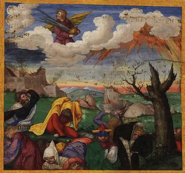 Tranh: Cảnh tượng khi đổ bát thịnh nộ thứ bảy.