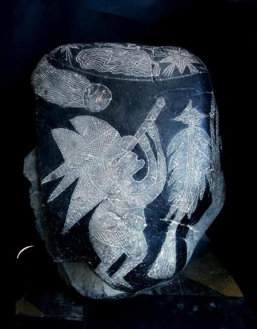 Một hòn đá ở Ica, Peru. (Ảnh: Eugenia Cabrera/Museo Cabrera)