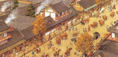 Cảnh tượng náo nhiệt ở chợ Tây thành Trường An thời cổ đại.