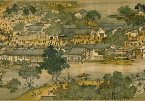 Thành Hàng Châu thời Trung Quốc cổ đại.
